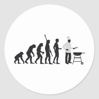 evolution chief classic round sticker