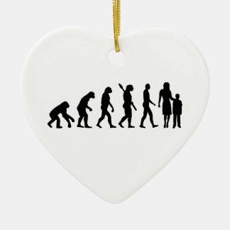 Evolution childcare worker ceramic ornament