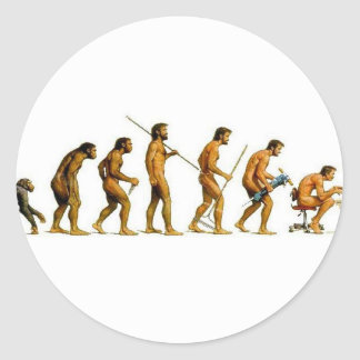 EVOLUTION CLASSIC ROUND STICKER