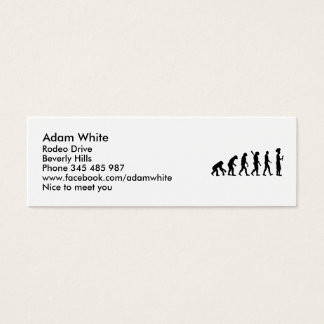 Evolution cook chef mini business card