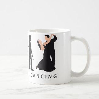 evolution dancing couple coffee mug