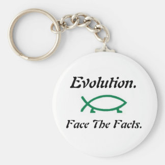Evolution-Darwin Fish Keychain