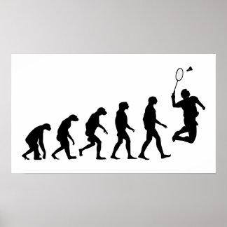 Évolution de badminton poster
