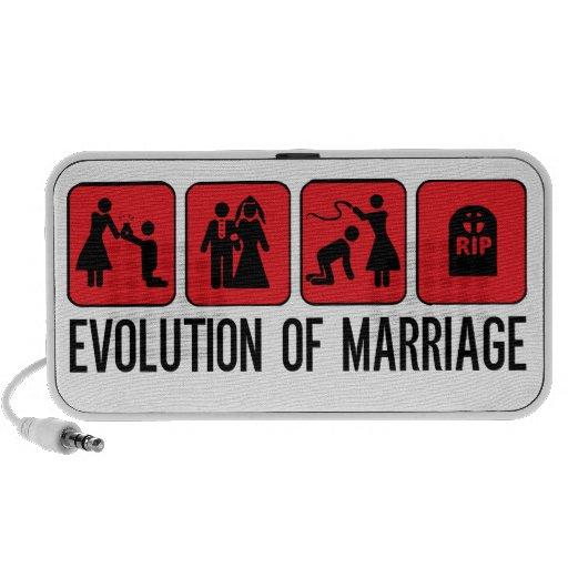 Évolution de mariage haut-parleur mobile