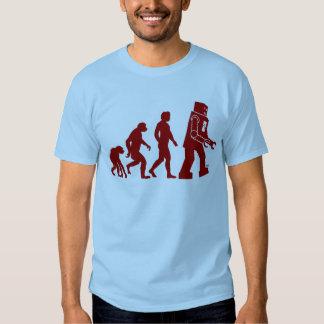 Évolution de robot de l'homme dans le robot tshirts