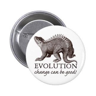Evolution Dinosaur 2 Inch Round Button