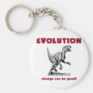 Evolution Dinosaur Tyrannosaurus Rex Basic Round Button Keychain