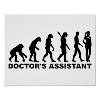 Evolution doctor's assistant poster