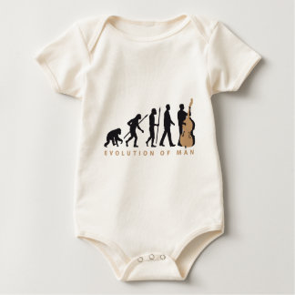 evolution double bass more player baby bodysuit