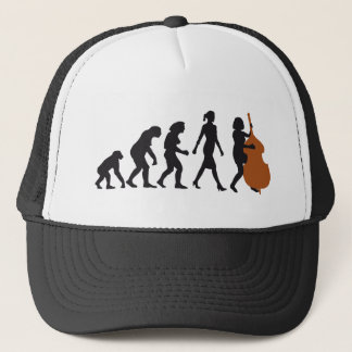 evolution double bass more player trucker hat