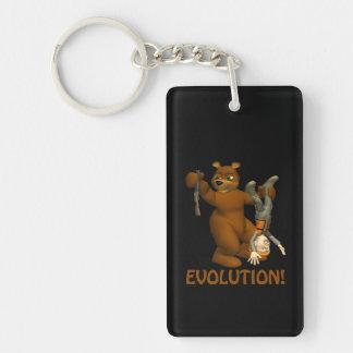 Evolution Double-Sided Rectangular Acrylic Keychain