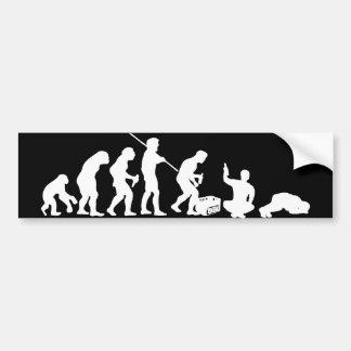Evolution - drinking/party bumper sticker