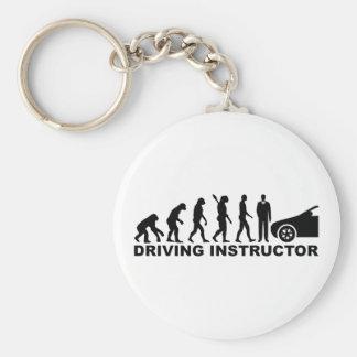Evolution driving instructor basic round button keychain