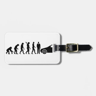 Evolution driving instructor luggage tag