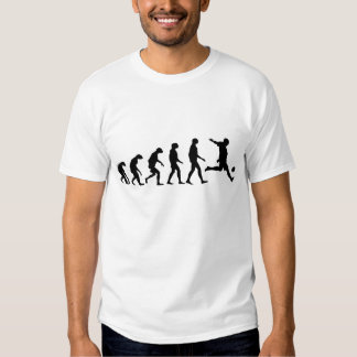 Évolution du football tee-shirt