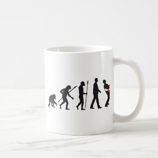 evolution e-guitar rock coffee mug