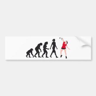 evolution female bath min tone more player bumper sticker