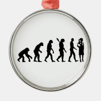 Evolution female doctor metal ornament