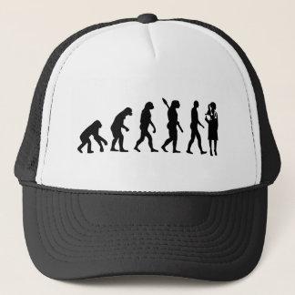 Evolution female doctor trucker hat