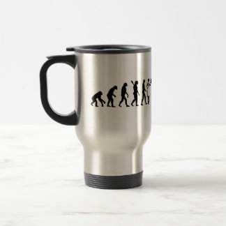 Evolution female pastry chef travel mug