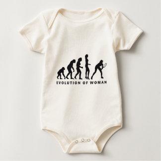 evolution female tennis baby bodysuit