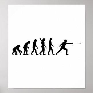 Evolution Fencing Poster