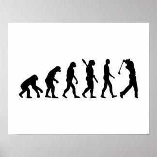 Evolution Golf Player Poster