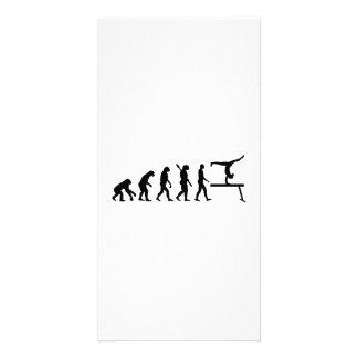Evolution gymnastics photo card template