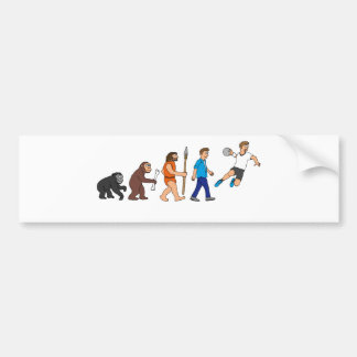 Evolution handball comic styles bumper sticker