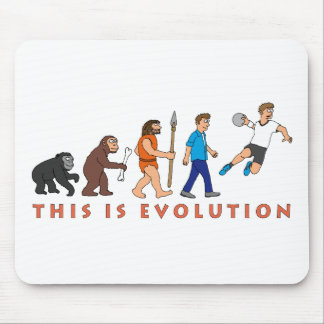 Evolution handball comic styles mouse pad