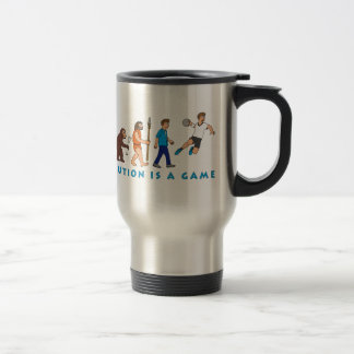 Evolution handball comic styles travel mug