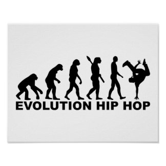 Evolution hip hop poster