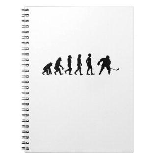 Evolution Hockey Lover Funny Gifts Notebook