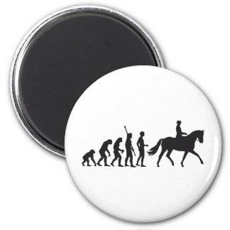 evolution horse riding 2 inch round magnet