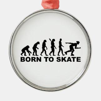 Evolution Inline Skating Metal Ornament