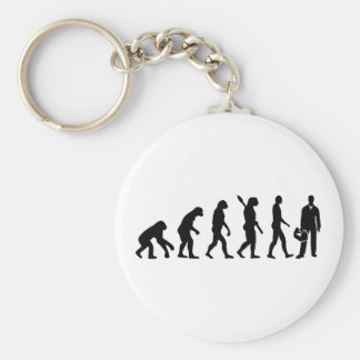 Evolution installer basic round button keychain