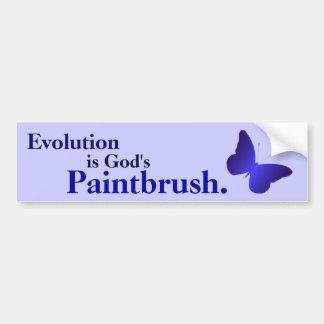 Evolution is God's Paintbrush Bumper Sticker