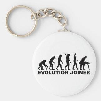 Evolution joiner basic round button keychain