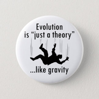 Evolution Just a Theory 2 Inch Round Button