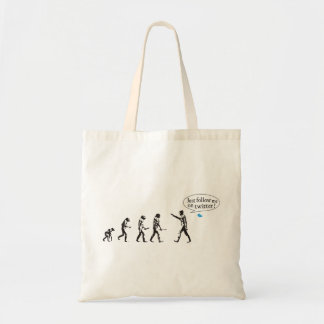 Evolution - Just follow on to twitter me Tote Bag