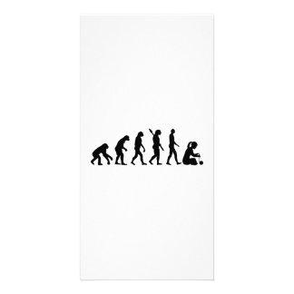Evolution Knitting Photo Card