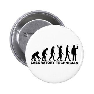 Evolution laboratory technician 2 inch round button