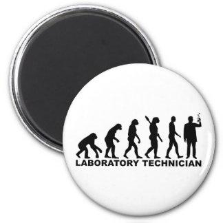 Evolution laboratory technician 2 inch round magnet