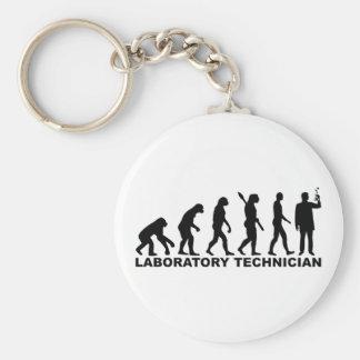 Evolution laboratory technician keychain