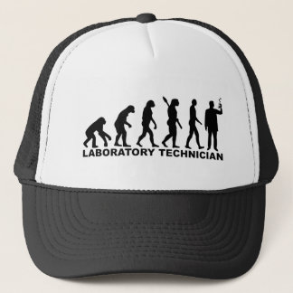 Evolution laboratory technician trucker hat