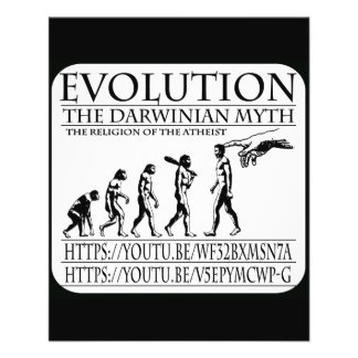 ÉVOLUTION, LE MYTHE DARWINIEN PROSPECTUS 11,4 CM X 14,2 CM