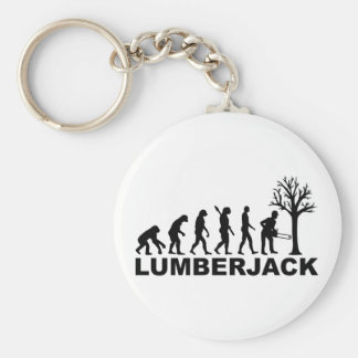Evolution lumberjack basic round button keychain