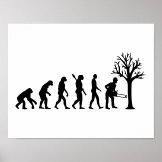 Evolution lumberjack poster