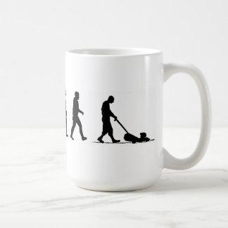 evolution man lawn lawnmower coffee mug