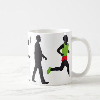 Evolution marathon more runner coffee mug